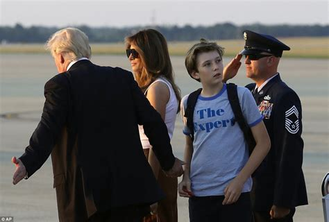 Trumps arrive back in Washington with Melania's parents