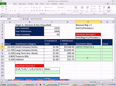 Excel Finance Class 103: 2 Ways To Calculate Geometric