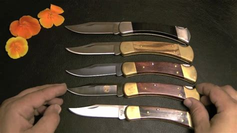 Buck 110 knives collection video review - YouTube