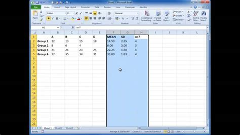 Plotting graphs with MEAN and SD-SEM in EXCEL - YouTube