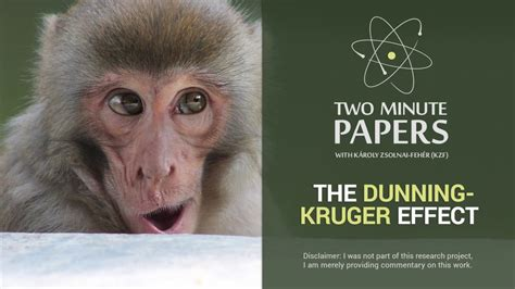The Dunning-Kruger Effect   Two Minute Papers #58 - YouTube