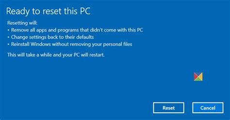 Reset this PC: Restore Windows 10 to factory settings
