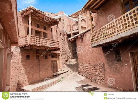 Ancient Building In Village Abyaneh, Iran Stock Image
