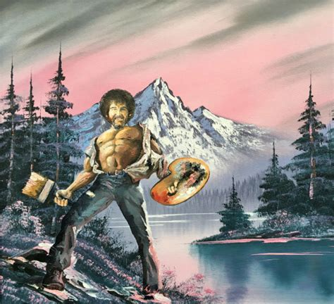 Epic Bob Ross Painting Printed Poster