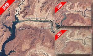 Nasa reveals Lake Powell's transformation over 15 years of