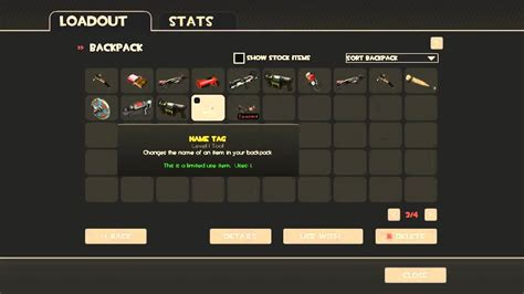Name Tag TF2 Polycount Update Change the Name of an Item