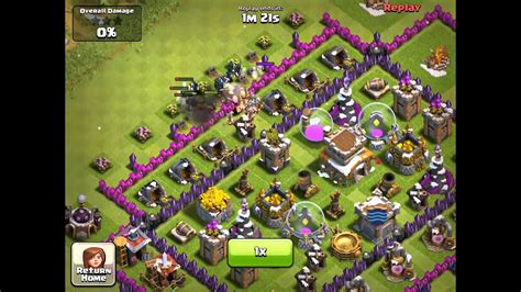 Clash of Clans Defense Defeat by 18 Level 5 Wizards 3